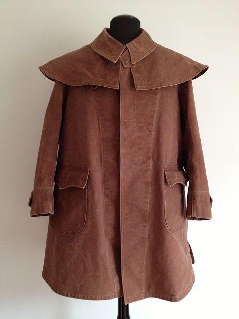 french hunting sportsman coat, 1920