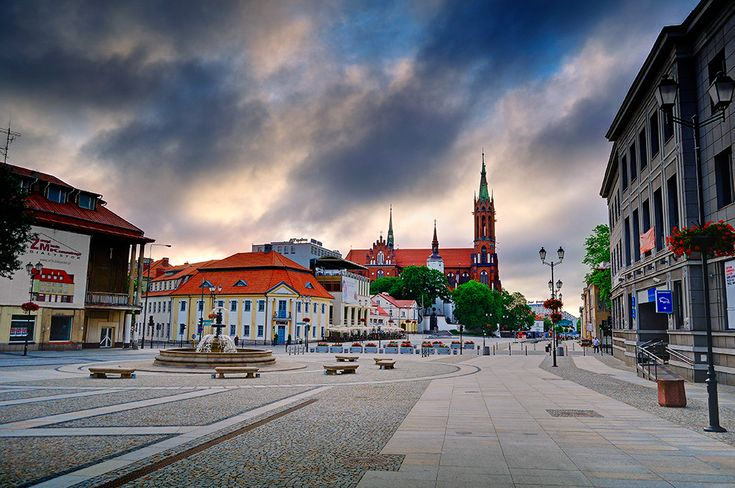 Bialystok, Poland. Main square.  I'd like to visit the home of my ancestors.