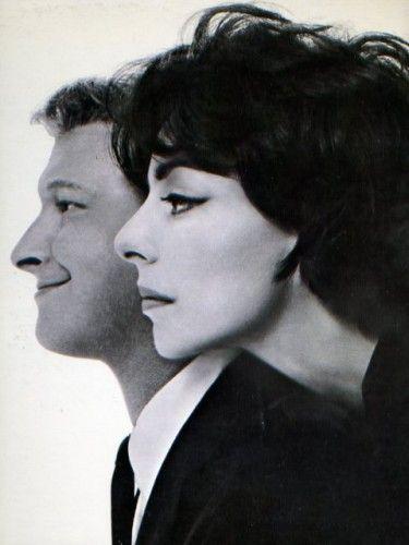 "mudwerks: "" anneyhall: "" Elaine May + Mike Nichols, 1960. Photo by Richard Avedon "" """