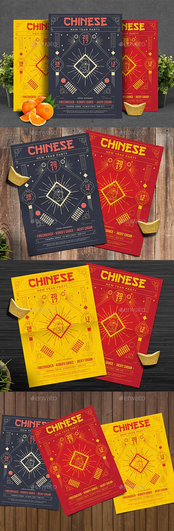 Chinese New Year Party — Photoshop PSD #shanghai #chinese zodiac • Download ➝ https://graphicriver.net/item/chinese-new-year-party/19216698?ref=pxcr
