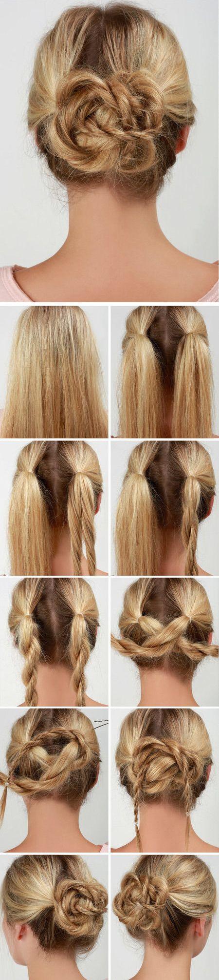 Feminine Look With Floral Hair Decoration