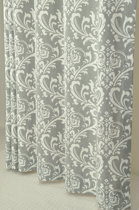 Grey Amp White Damask Shower Curtain 72 X 72 By Pondlilly On