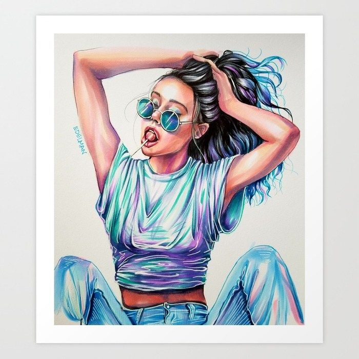 Awesome Copic Marker Drawing By Kelly Edelman Copic Drawings