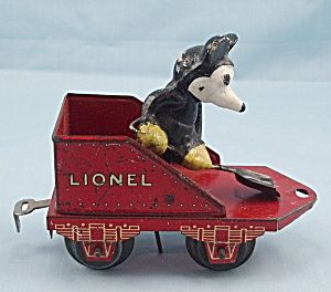 1930's Disney, Lionel Mickey Mouse Circus Train Stoker, Tender Car