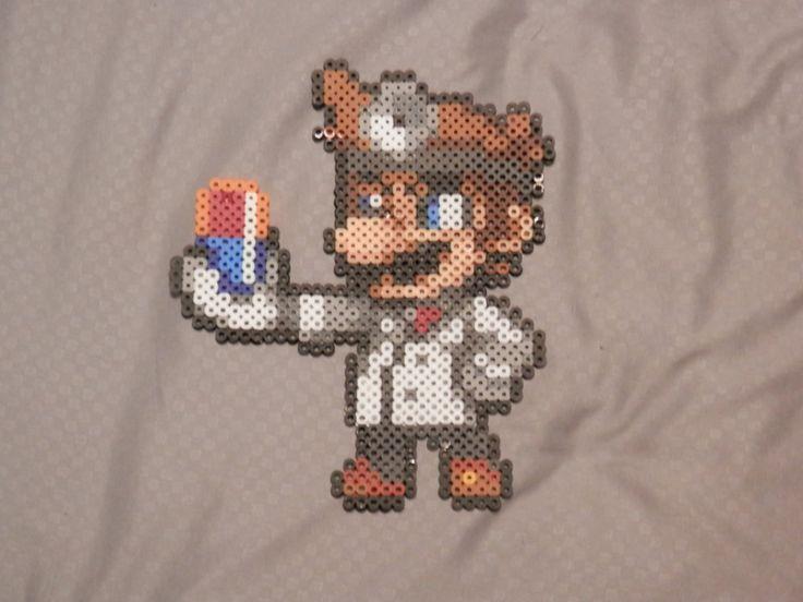 Super Smash Bros 4. Dr. Mario Bead Sprite by MechaPoltergeist