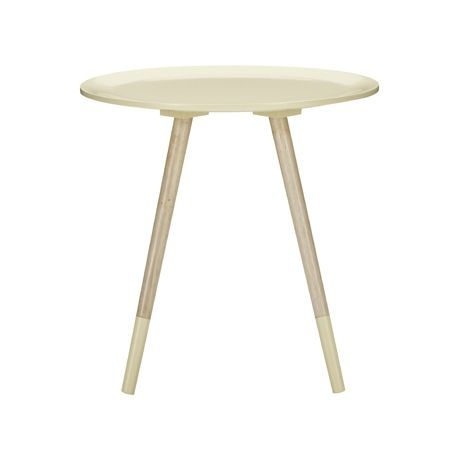 Spoke Side Table Small  Cream