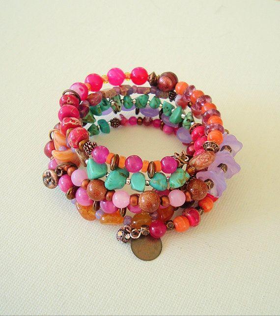 Bohemian Fashion Boho Bracelet Gemstone Bracelet by BohoStyleMe