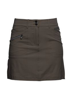 "Daily Sports USA Women's Solid Miracle Stretch 20 1/2"" Golf Skort-Taupe"