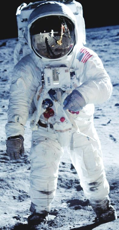 Apollo 11, Neil Armstrong becomes the first astronaut to step onto the lunar surface, July 20, 1969.