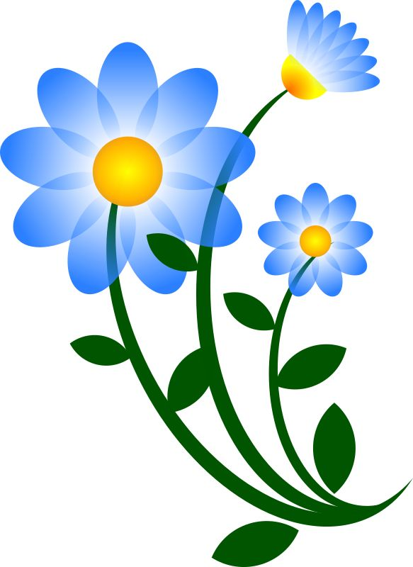 Tulips Blue Flower Clipart