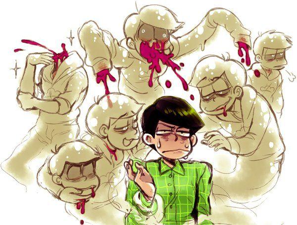 Osomatsu-san- Osomatsu, Karamatsu, Choromatsu, Ichimatsu, Jyushimatsu, and Todomatsu #Anime「♡」Guro