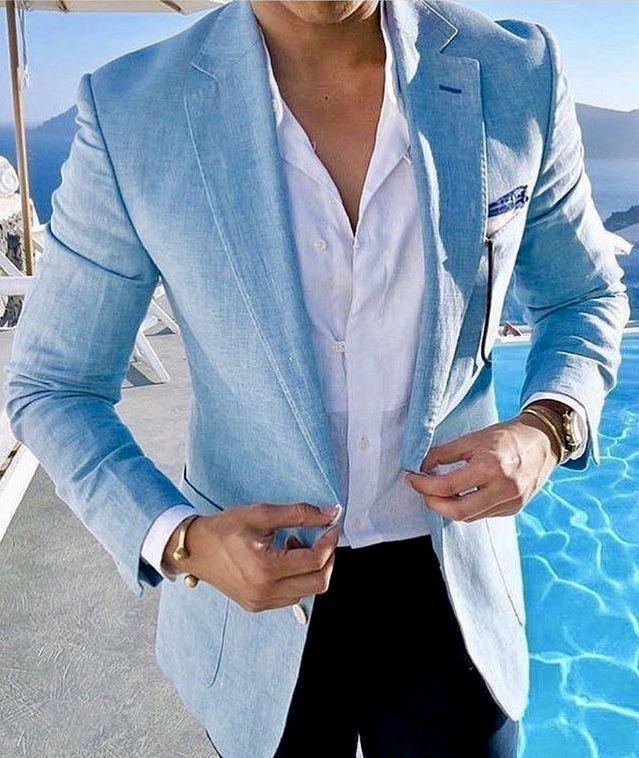 Giorgenti New York Custom Suits Tuxedo Long Island Nyc Bespoke Tailor Custom Dress Sh In 2020 Blue Blazer Outfit Men Mens Fashion Blazer Blazer Outfits Men