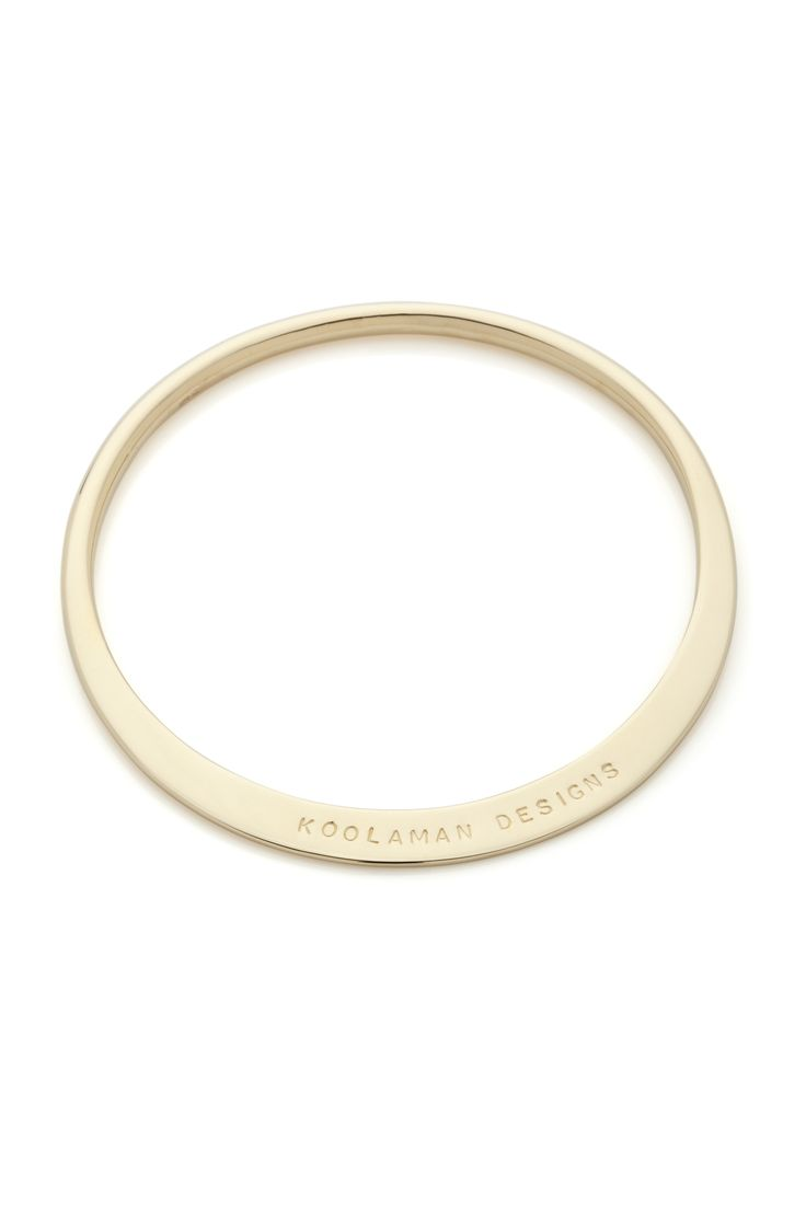 9ct Gold Elsa Bangle, available in Yellow, White or Rose gold. Comes in five different sizes. Starting at $700.00. Shop Now: https://www.koolaman.com.au/shop/shop/bracelets-bangles/elsa-standard