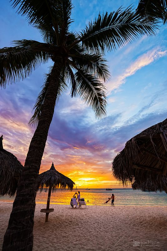 Sunset in Palm Beach, Aruba