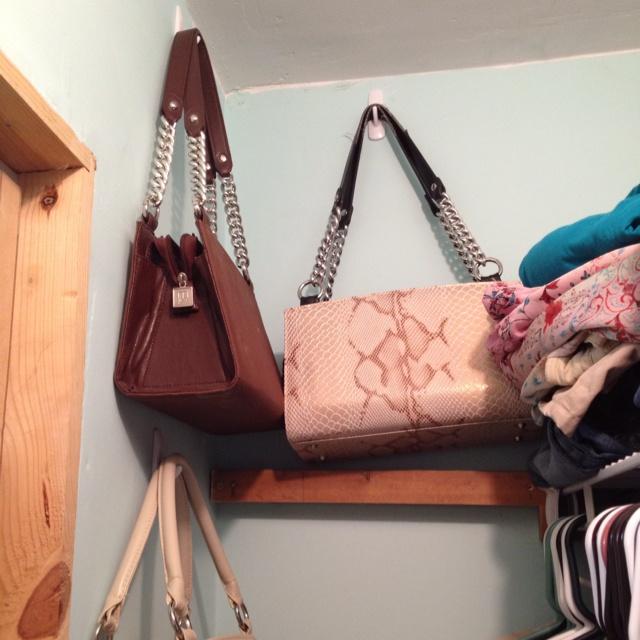 Purse Storage In The Closet.