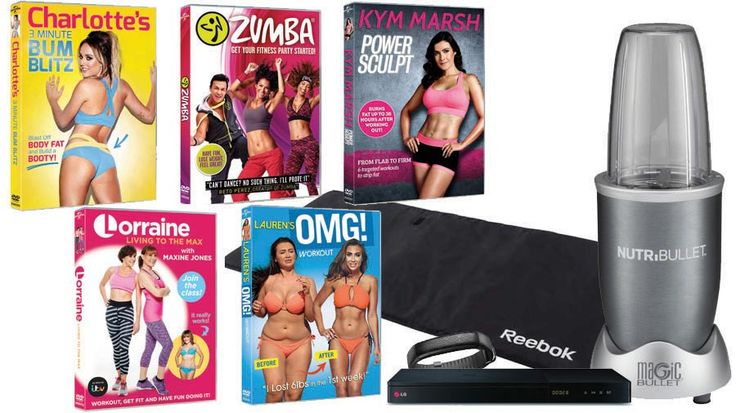 Enter for your chance to win a fitness pack consisting of 5 celeb work-out DVDs, plus a Blu-ray player, Jawbone activity tracker, NutriBullet juicer and exercise mat.