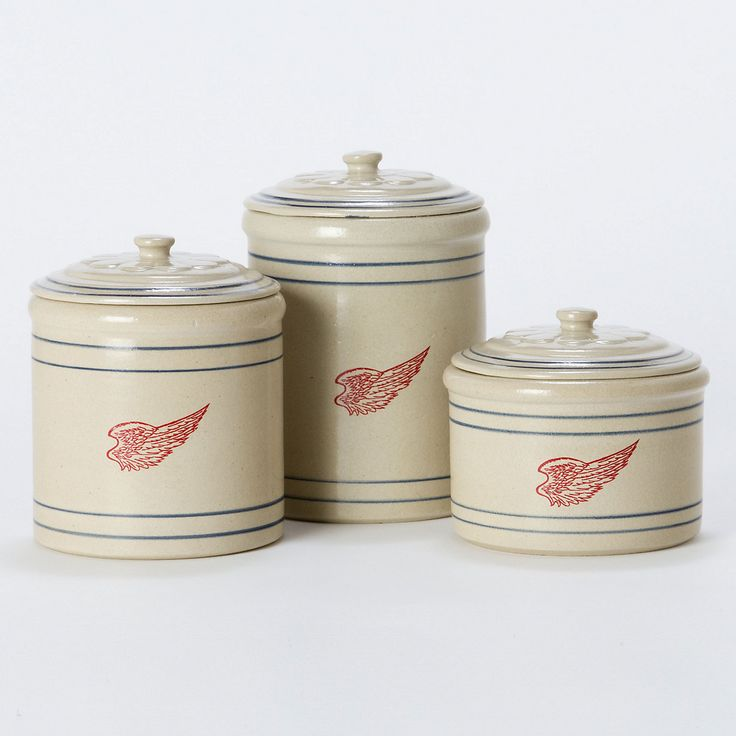 Red Wing Stoneware Canisters
