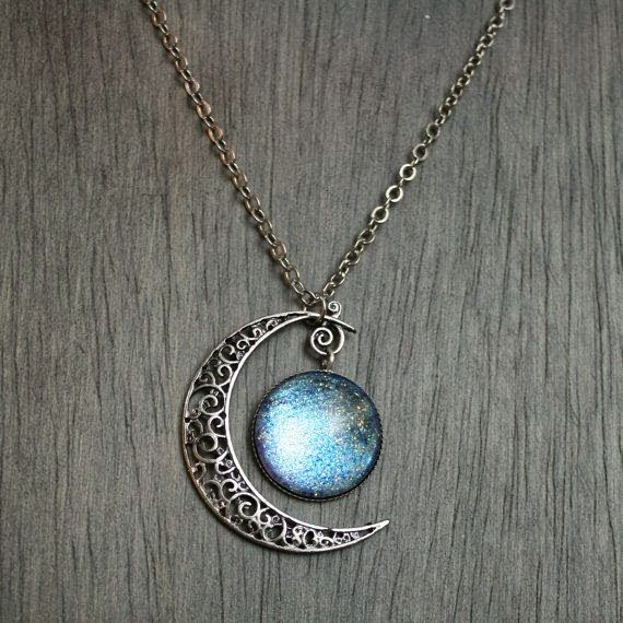 Aurora Moonlight Antique Silver Necklace