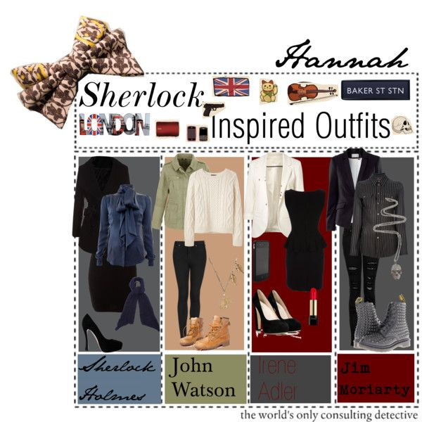 """Sherlock Inspired Outfits"" by the-tip-geek on Polyvore"