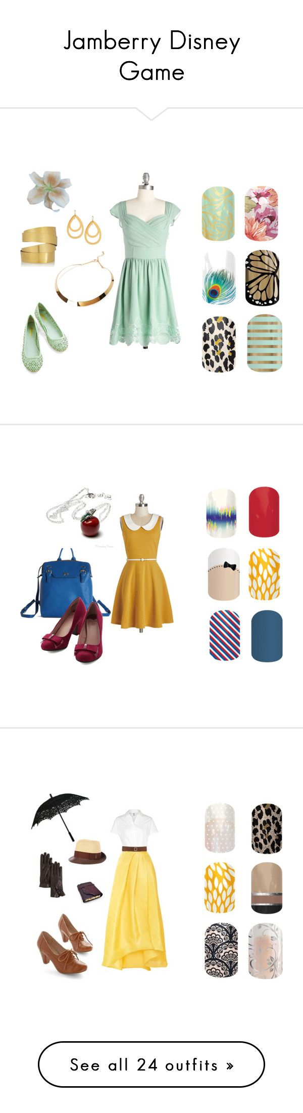 """Jamberry Disney Game"" by beccaboo605 ❤ liked on Polyvore featuring Hervé Van Der Straeten, Forever 21, Stephanie Kantis, Nica, Once Upon a Time, plus size dresses, American Apparel, Monique Lhuillier, BKE and Chelsea Crew"