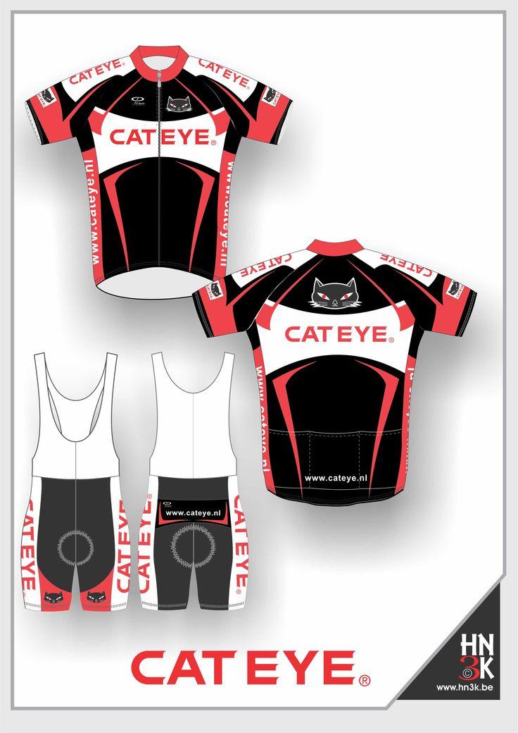 cateye cycling shirt en short