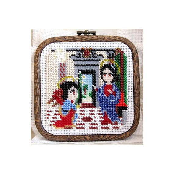 Check out this item in my Etsy shop https://www.etsy.com/listing/522596470/annunciation-cross-stitch-pattern-pdf