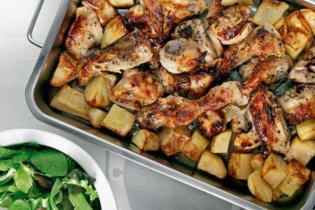 Παϊδάκια κοτόπουλου στο φούρνο με πατάτες - Συνταγές | γαστρονόμος