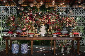Casamento rústico-chique: mesa de doces - Foto: Muniz e Maia