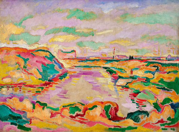Collection Online | Georges Braque. Landscape near Antwerp (Paysage près d'Anvers). 1906 - Guggenheim Museum: