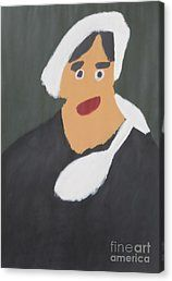 Canvas Print featuring the painting Portrait Of A Woman With White Cap 2015 - After Vincent Van Gogh by Patrick Francis