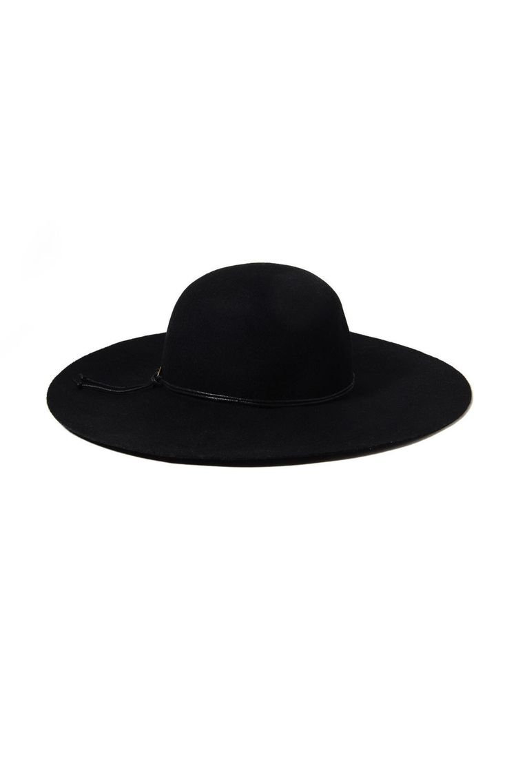 Cheveux Corp Ring Trim Felt Floppy Hat