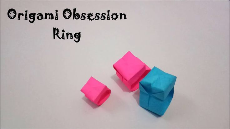 How to make finger Ring from Origami Sheets Propose her and she will not say no... Youtube origami obsession how to make origami tutorial step by step for kids easy  3d models jonakashima Video tutorials