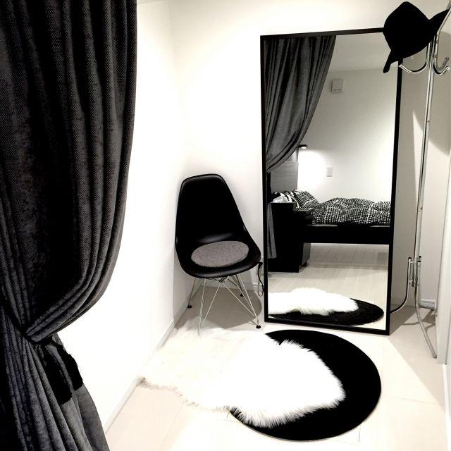 ベッドルーム/IKEA/ミニマルモダン/照明/イームズチェア/モノクロ…などのインテリア実例 - 2015-04-07 18:37:05 | RoomClip(ルームクリップ)