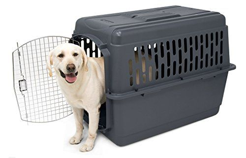 The ideal pet carrier that is perfect for traveling. Extra large dark gray Pet Porter 2. This kennel is airline travel approved. Lightweight pet kennel made with heavy-duty plastic and wire door. W...