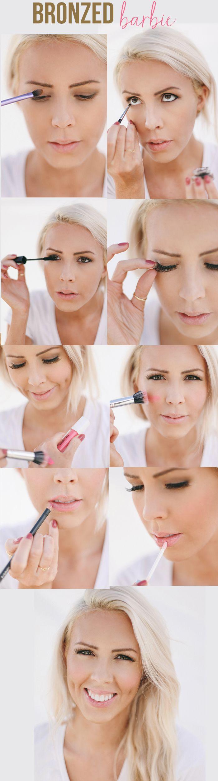 Bronzed Barbie Makeup