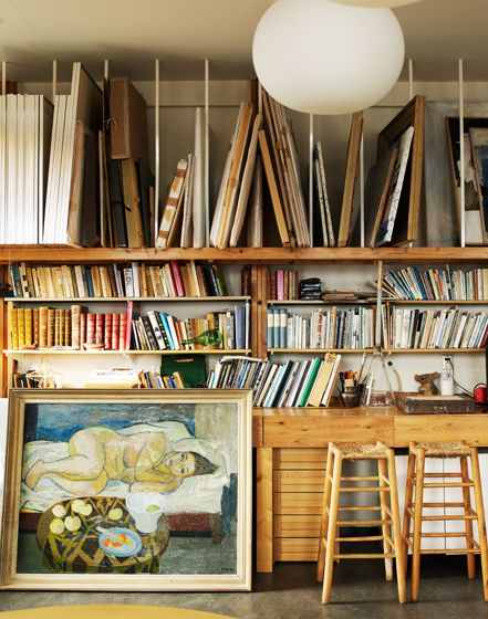 studio / library / supplies.