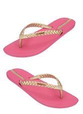 pink  gold Ipanema flip flops!