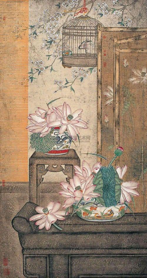 【国画】刘宏伟《雅韵飘香 荷影篇》