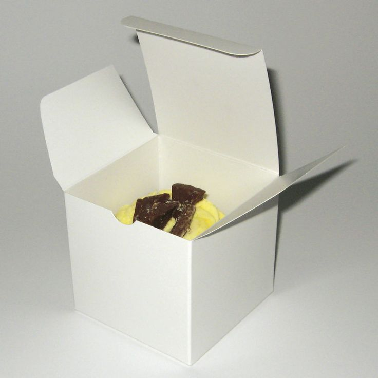 Single white Cupcake Boxes 83mm x 83mm x79mm 12 -24 or 48 High Quality Box