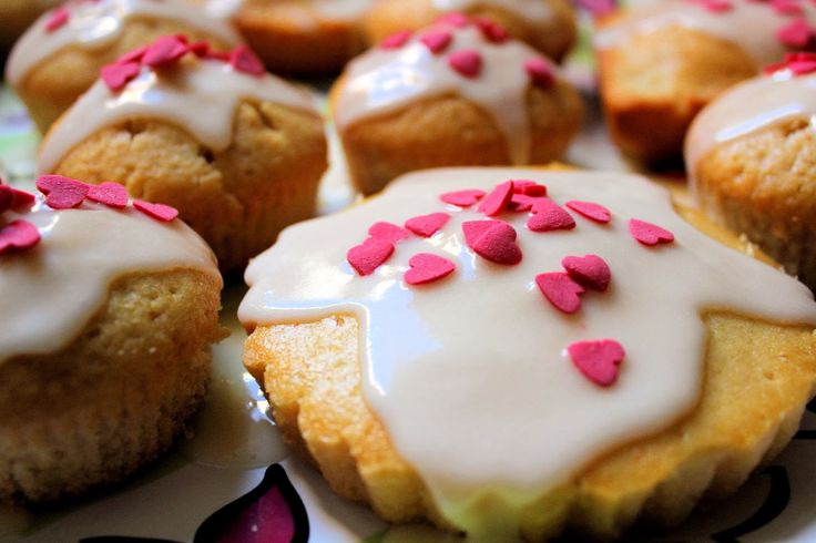Cupcakes di San Valentino vegan senza latte e uova