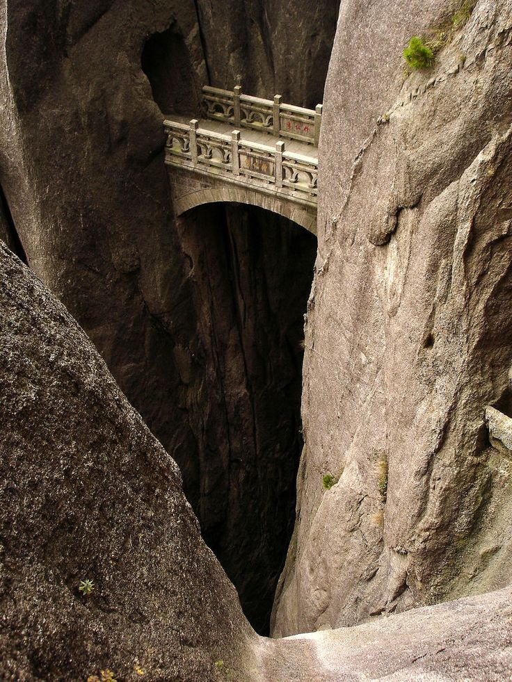 Bridge to the Elven City - Or a bridge in Huangshan, China.