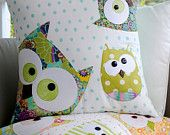 A Family of Owls Applique Cushion Pattern by claireturpindesign