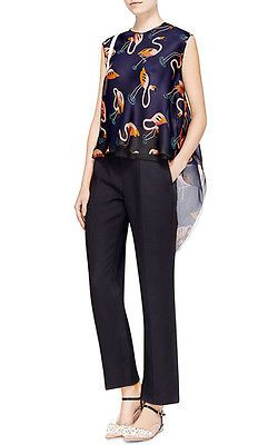 NWT-900-DELPOZO-Double-Paper-Twill-Ankle-Pants-sz-36-US-4
