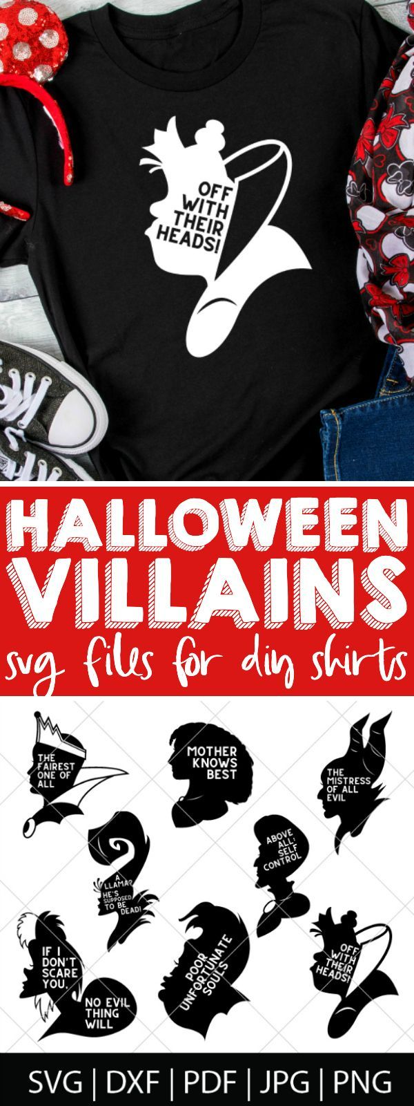 Disney Villains SVG Files Disney halloween shirts