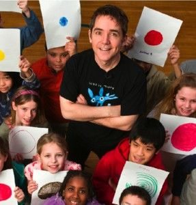 """Tune in Sept. 12th at 10am PST (1pm EST) to listen to Peter Reynolds read """"The Dot"""". Click and follow the links."""