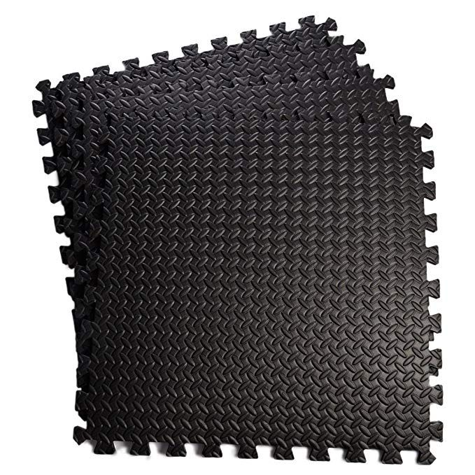 Giantex 48 Sq Ft Eva Foam Floor Interlocking Mat Show Floor Garage Gym Mat Review Interlocking Mats Eva Foam Mats Gym Mats