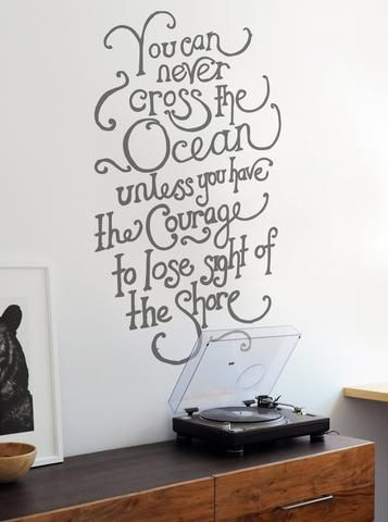 You Can Never Cross The Ocean Wall Sticker