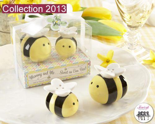 De ravissantes salières et poivrières abeilles pour l'anniversaire de votre bout de chou  #lovengift #cadeauxinvites