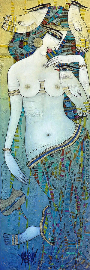 Venus With Doves Painting by Albena - Venus With Doves Fine Art Prints and Posters for Sale