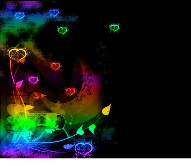 rainbow with black background black rainbow doeidoei